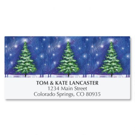 Winter Tree Deluxe Address Labels