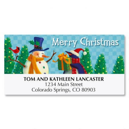 Holiday Friends Deluxe Address Labels