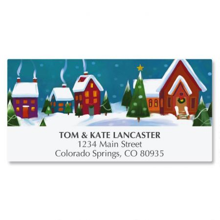 Winter Village Deluxe Address Labels