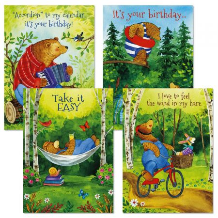 Bear Hug Birthday Cards and Seals