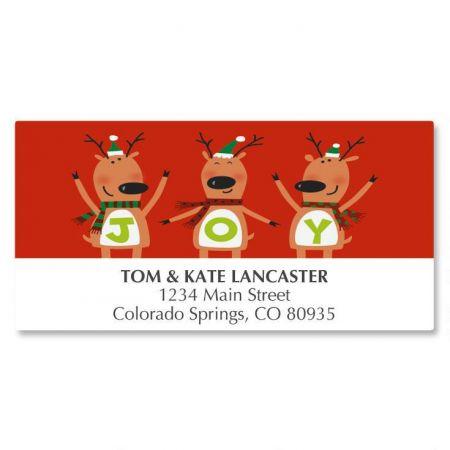 Reindeer Joy Deluxe Address Labels