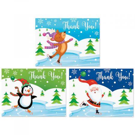 Winter Wonderland Thank You Note Cards - BOGO