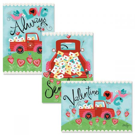 Red Truck Valentine Cards
