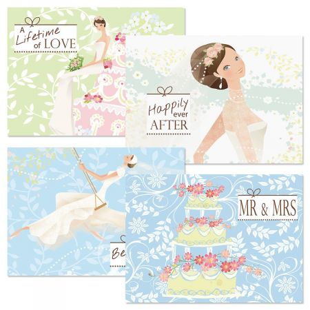 Wedding Wishes Cards and Seals
