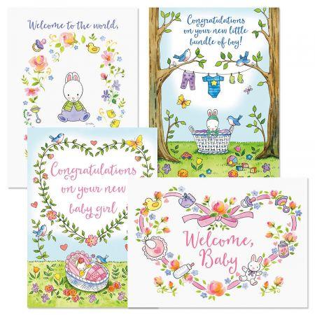 Hunny Bunny Baby Cards