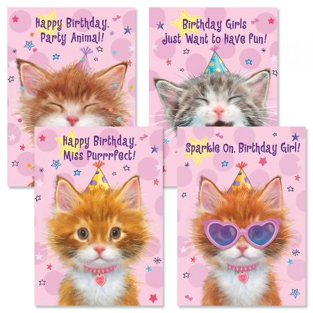 Birthday Cats Birthday Cards and Seals