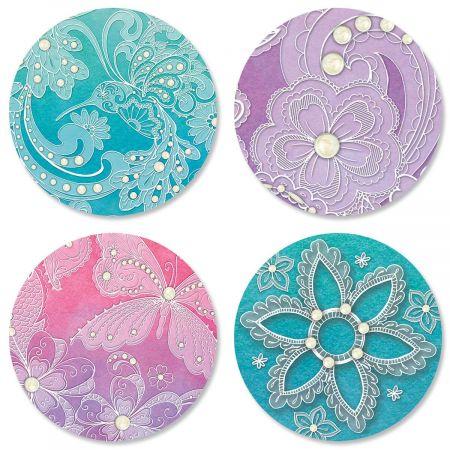 Watercolor Lace Seals