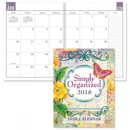 2018 Watercolor Garden Desk Calendar