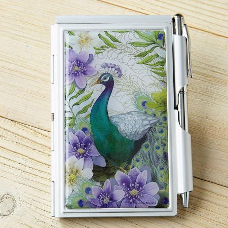 Peacock Notepad & Pen Set