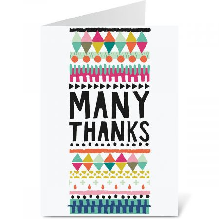 Many Thanks Thank You Note Cards