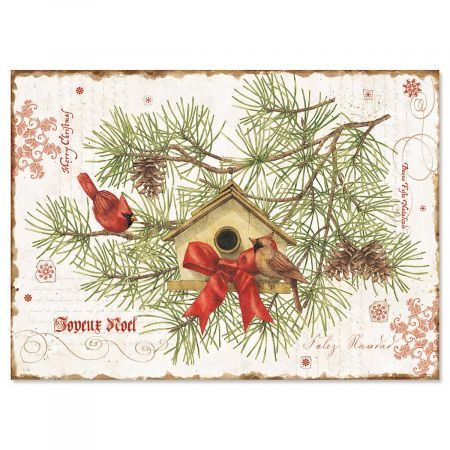 Nature's Praise Personalized Christmas Cards - Set of 18