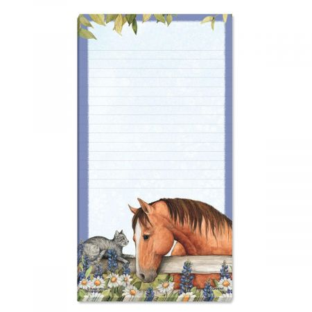 Horses Lined Magnetic Shopping List Pad