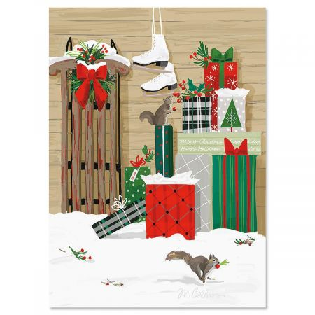 The Gift Personalized Christmas Cards - Set of 72