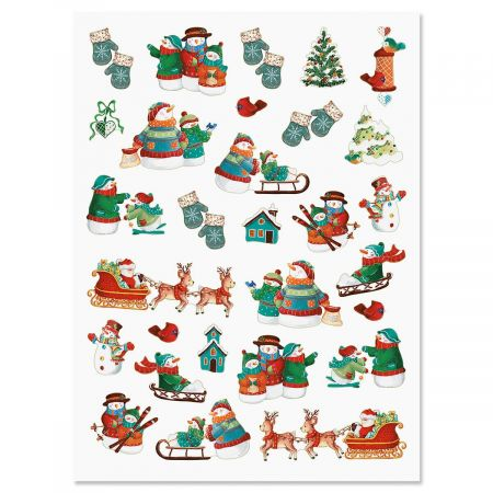 Snowman Holiday Stickers