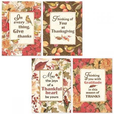 Autumn Botanicals Thanksgiving Cards