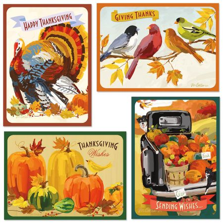 Painterly Thanksgiving Greeting Cards