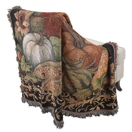Autumn Throw The ideal home remedy for a fall chill. Soft, cozy throw is 100% cotton; machine wash/dry. 50  x 60 . Made in USA. Susan Winget