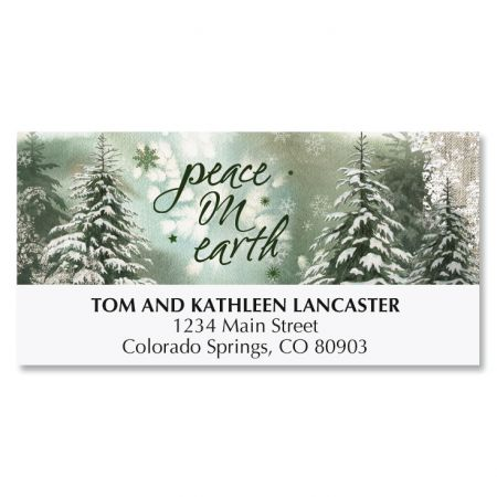Peaceful Trees Deluxe Address Labels