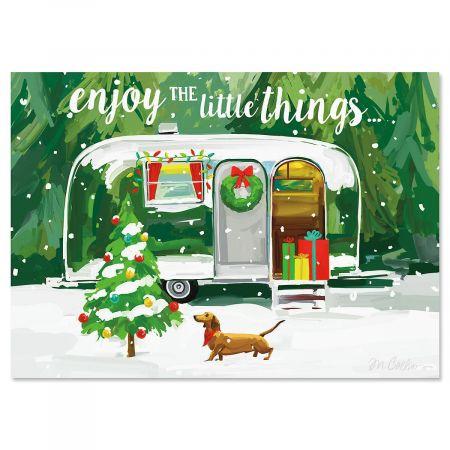 Christmas Getaway Personalized Christmas Cards - Set of 72