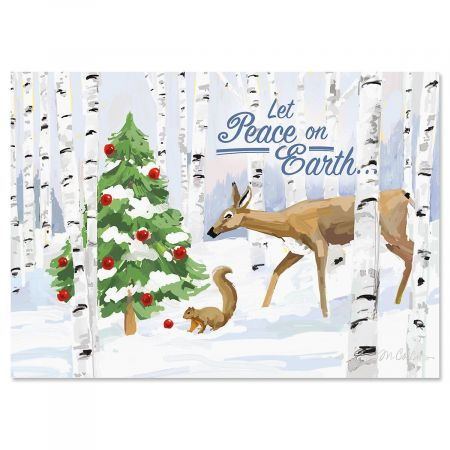 Forest Curiosity Nonpersonalized Christmas Cards - Set of 72