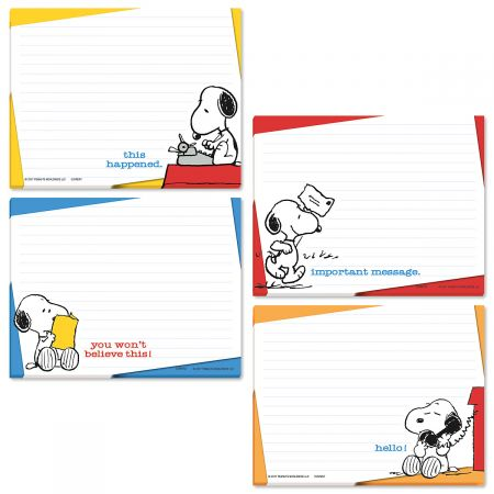 PEANUTS® Lined Jotter Shopping List Pads