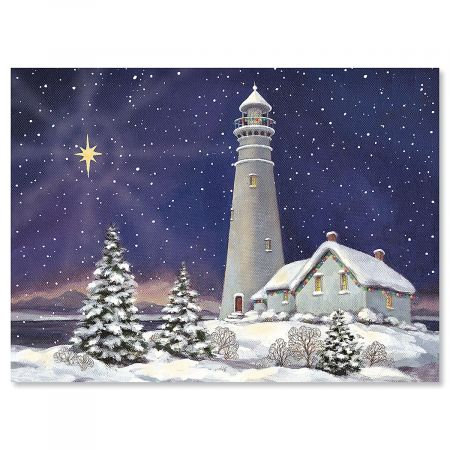 December Light Personalized Christmas Cards - Set of 72