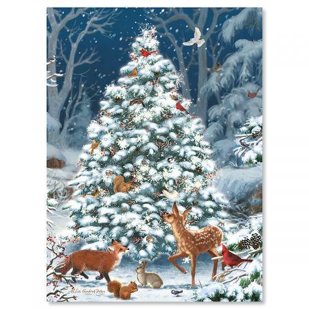 Nature's Celebration Personalized Christmas Cards - Set of 18