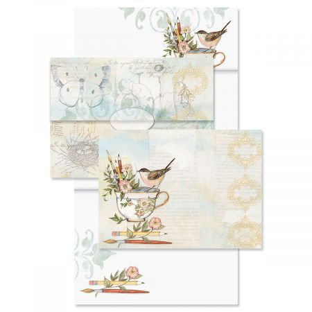 Teacup Just-a-Note™ Cards with Seals