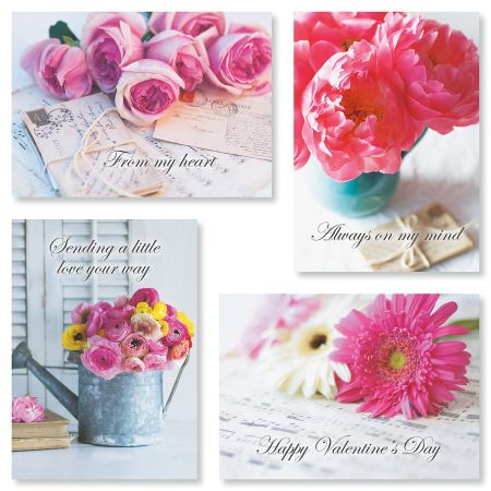 Floral Colors Valentines Day Cards