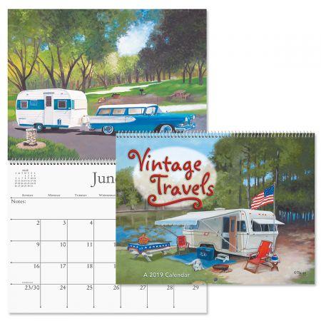 2019 Vintage Travel Trailer Wall Calendar