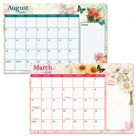 2019-2020 Watercolor Calendar Pad