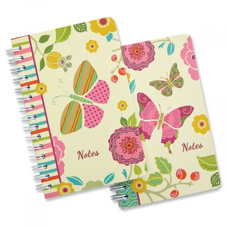 Butterfly Cheer Spiral Notepads