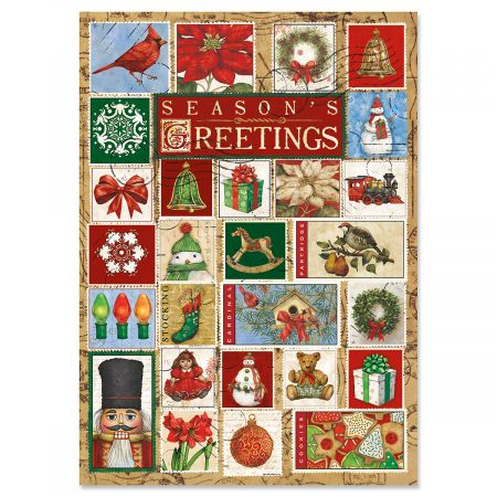 Christmas Stamps Christmas Cards - Nonpersonalized