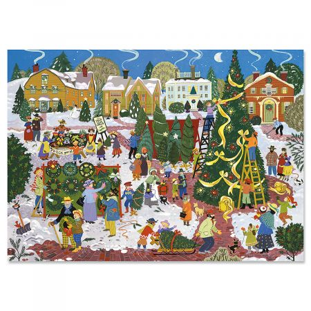 Christmas Festival  Christmas Cards - Personalized