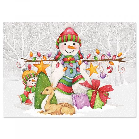 Winter Friends Christmas Cards - Personalized