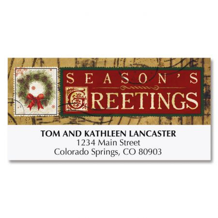 Christmas Stamps Deluxe Address Labels