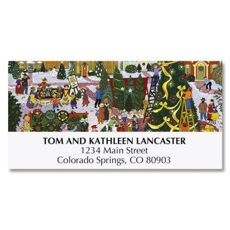 Christmas Festival Deluxe Address Labels