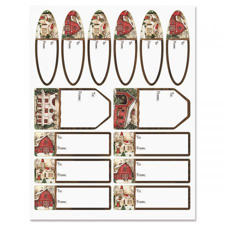 Evergreen Christmas Gift Labels
