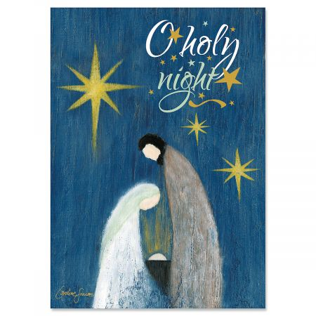 O Holy Night Christmas Cards - Personalized