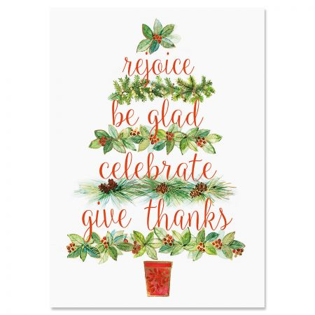 Calling Tree Religious Christmas Cards
