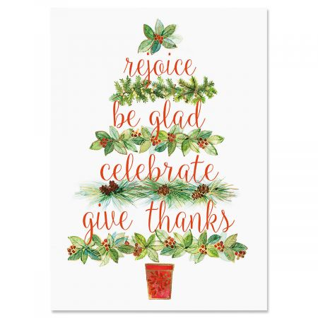 Calling Tree Christmas Cards - Nonpersonalized