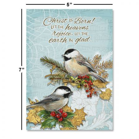 Holiday Birds Religious Christmas Cards