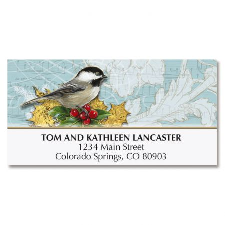 Holiday Birds Deluxe Address Labels