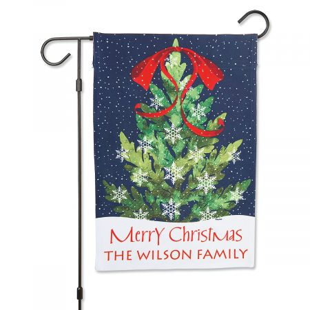 Christmas Tree Personalized Garden Flag Christmas Tree Personalized Garden Flag