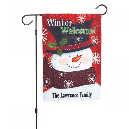 Winter Welcome Garden Flag