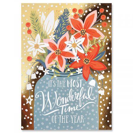 Festive Jar Ultra-Deluxe Christmas Cards