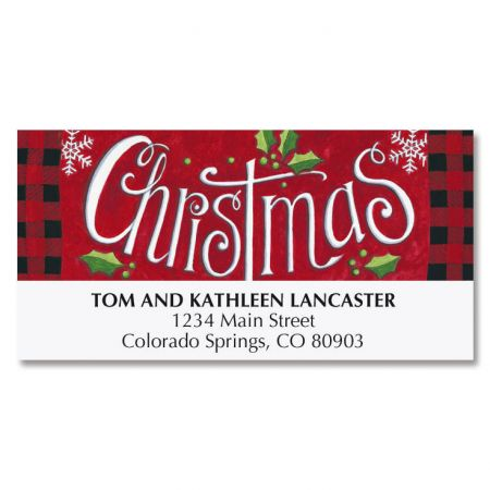 Holly Jolly Deluxe Address Labels