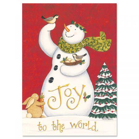 Snowman Joy Christmas Cards