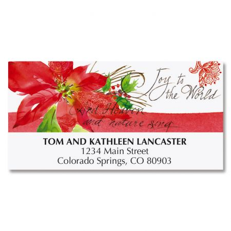 Poinsettia Melody Deluxe Address Labels