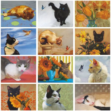 2019 The Painted Cat Wall Calendar